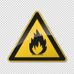 Flammable, inflammable substances warning attention sign. Safety signs, warning Sign or Danger symbol BGV warning Fire warning sign on transparent background. Vector illustration. Eps 10 vector file. : Stock Photo or Stock Video Download rcfotostock photos, images and assets rcfotostock | RC-Photo-Stock.: