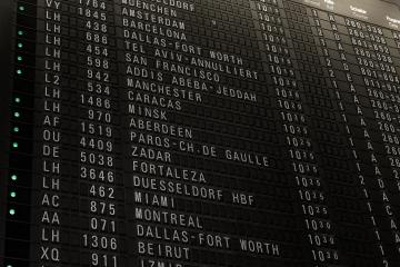 Flights timetable in airport terminal, some flights are delayed, traveling around the world by airplane, time schedule with gate and check-in number- Stock Photo or Stock Video of rcfotostock | RC-Photo-Stock