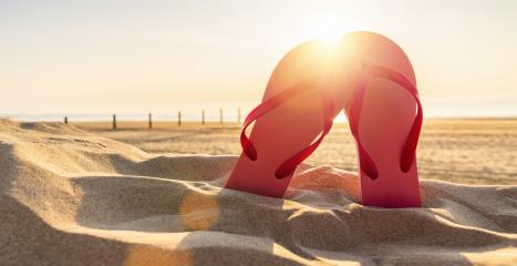 flip-flop on the beach- Stock Photo or Stock Video of rcfotostock | RC-Photo-Stock