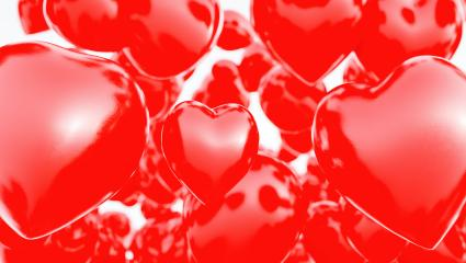 flying Valentine Hearts Background - 3D Rendering - Stock Photo or Stock Video of rcfotostock | RC-Photo-Stock