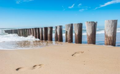 food steps between groynes at the beach in Domburg, Zeeland, Holland- Stock Photo or Stock Video of rcfotostock | RC-Photo-Stock