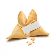 fortune cookie with crumbs and note- Stock Photo or Stock Video of rcfotostock | RC-Photo-Stock