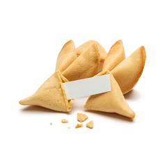 fortune cookies with crumbs and note - Stock Photo or Stock Video of rcfotostock | RC-Photo-Stock
