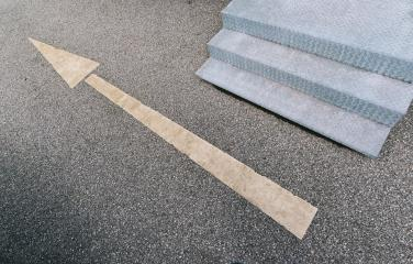 Forward sign arrow on the road and stairs- Stock Photo or Stock Video of rcfotostock | RC-Photo-Stock