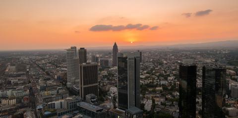 Frankfurt am Main at dusk, Germany- Stock Photo or Stock Video of rcfotostock | RC-Photo-Stock