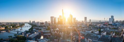 Frankfurt am Main at sunset Panorama- Stock Photo or Stock Video of rcfotostock | RC-Photo-Stock