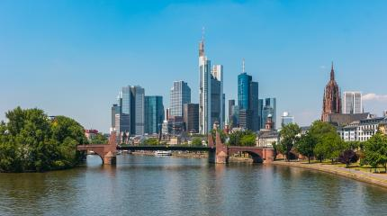 Frankfurt am Main financial district in germany- Stock Photo or Stock Video of rcfotostock | RC-Photo-Stock