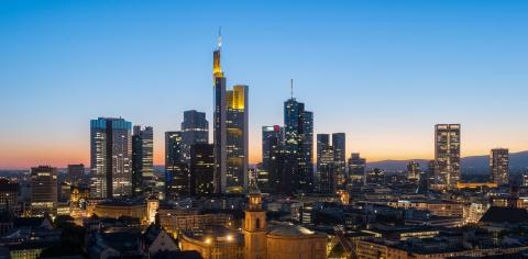 Frankfurt am Main Financial District skyline at night : Stock Photo or Stock Video Download rcfotostock photos, images and assets rcfotostock | RC-Photo-Stock.: