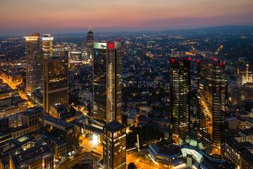 Frankfurt am Main, Germany financial district skyline at night- Stock Photo or Stock Video of rcfotostock   RC-Photo-Stock