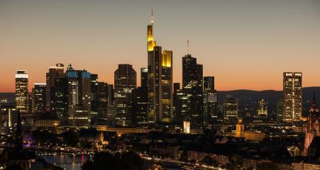 Frankfurt am Main, Germany financial district skyline at night- Stock Photo or Stock Video of rcfotostock | RC-Photo-Stock