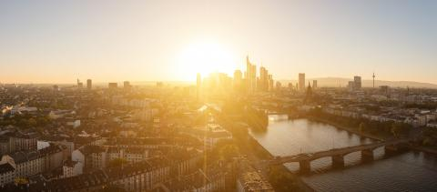 Frankfurt am Main late summer evening panorama, germany- Stock Photo or Stock Video of rcfotostock | RC-Photo-Stock