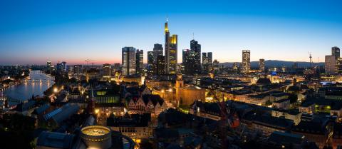 Frankfurt am Main Panorama at night- Stock Photo or Stock Video of rcfotostock | RC-Photo-Stock