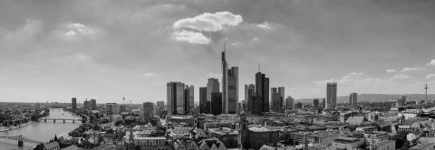 Frankfurt am Main panorama in black and white- Stock Photo or Stock Video of rcfotostock | RC-Photo-Stock