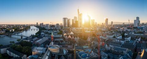 Frankfurt am Main Panorama skyline during twilight blue hour- Stock Photo or Stock Video of rcfotostock | RC-Photo-Stock
