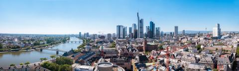 Frankfurt am Main Panorama Skyscraper buildings at morning in Frankfurt : Stock Photo or Stock Video Download rcfotostock photos, images and assets rcfotostock | RC-Photo-Stock.:
