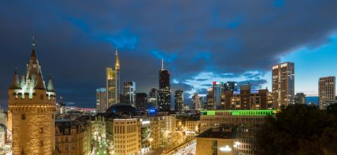 Frankfurt am Main skyline and old town at a cloudy sunset- Stock Photo or Stock Video of rcfotostock | RC-Photo-Stock
