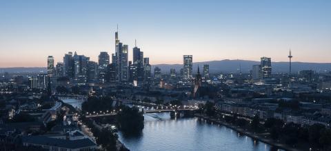 Frankfurt am Main Skyline at dusk, germany- Stock Photo or Stock Video of rcfotostock | RC-Photo-Stock