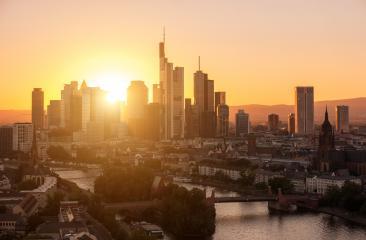 Frankfurt am Main Skyline at summer sunset- Stock Photo or Stock Video of rcfotostock | RC-Photo-Stock