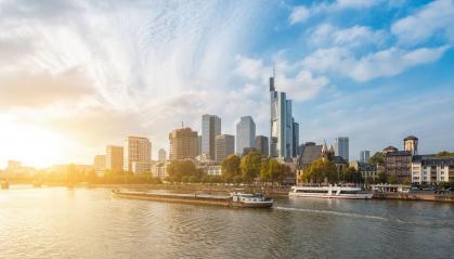 Frankfurt am Main Skyline at sunset- Stock Photo or Stock Video of rcfotostock | RC-Photo-Stock