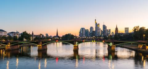 Frankfurt am Main skyline at the blue hour in germany- Stock Photo or Stock Video of rcfotostock | RC-Photo-Stock
