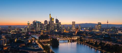 Frankfurt am Main, skyline during twilight blue hour- Stock Photo or Stock Video of rcfotostock | RC-Photo-Stock