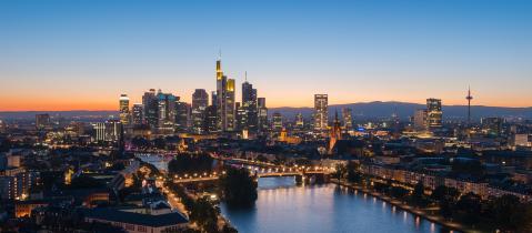 Frankfurt am Main, skyline during twilight blue hour- Stock Photo or Stock Video of rcfotostock | RC-Photo-Stock