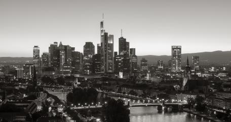 Frankfurt am Main Skyline in Monochrome colors- Stock Photo or Stock Video of rcfotostock | RC-Photo-Stock
