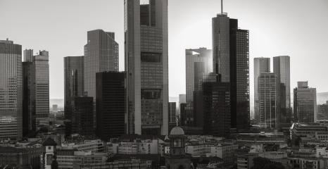 Frankfurt am Main skyline monochrom colors- Stock Photo or Stock Video of rcfotostock | RC-Photo-Stock