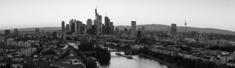 Frankfurt am Main Skyline Panorama Black and white- Stock Photo or Stock Video of rcfotostock | RC-Photo-Stock