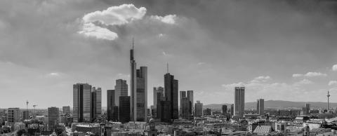 Frankfurt am Main Skyline Panorama in monochrome colors- Stock Photo or Stock Video of rcfotostock | RC-Photo-Stock