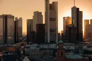Frankfurt am Main skyscaper skyline at dusk- Stock Photo or Stock Video of rcfotostock | RC-Photo-Stock