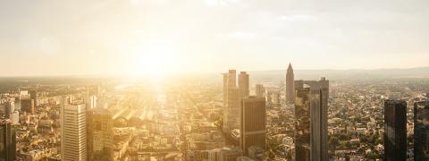Frankfurt am Main sunset Skyline Panorama- Stock Photo or Stock Video of rcfotostock | RC-Photo-Stock
