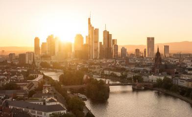 Frankfurt am Main Sykline late summer evening- Stock Photo or Stock Video of rcfotostock | RC-Photo-Stock