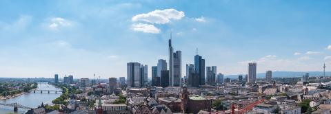 Frankfurt am main with blue sky Skyline Panorama- Stock Photo or Stock Video of rcfotostock | RC-Photo-Stock