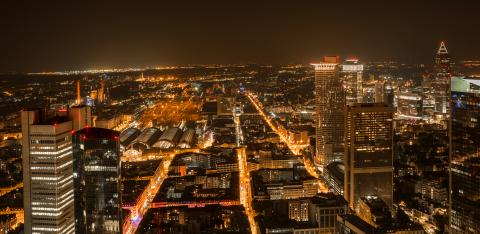 Frankfurt by night Commercial district, germany- Stock Photo or Stock Video of rcfotostock | RC-Photo-Stock