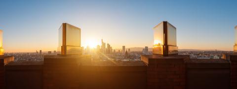 Frankfurt City at Sunset Panorama, Golden city view- Stock Photo or Stock Video of rcfotostock | RC-Photo-Stock
