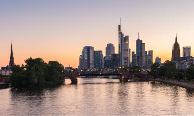 Frankfurt City Skyline at summer sunset, germany- Stock Photo or Stock Video of rcfotostock | RC-Photo-Stock