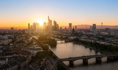Frankfurt City Skyline silhouette at summer sunset- Stock Photo or Stock Video of rcfotostock | RC-Photo-Stock