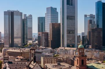 Frankfurt financial center of Germany skyline view- Stock Photo or Stock Video of rcfotostock | RC-Photo-Stock