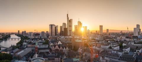 Frankfurt financial district panorama- Stock Photo or Stock Video of rcfotostock | RC-Photo-Stock
