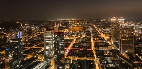 Frankfurt Financial district skyline at night- Stock Photo or Stock Video of rcfotostock | RC-Photo-Stock