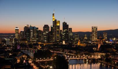 Frankfurt, Germany financial district skyline- Stock Photo or Stock Video of rcfotostock | RC-Photo-Stock