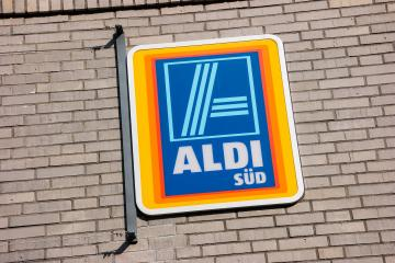 FRANKFURT, GERMANY MARCH, 2017: Aldi sign (south division). Aldi is a leading global discount supermarket chain with almost 10,000 stores in 18 countries.- Stock Photo or Stock Video of rcfotostock | RC-Photo-Stock