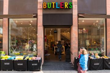 FRANKFURT, GERMANY MARCH, 2017: Butlers store entrance, Butlers is a home accessories store in Frankfurt, Germany.- Stock Photo or Stock Video of rcfotostock | RC-Photo-Stock