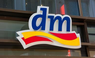 FRANKFURT, GERMANY MARCH, 2017: Dm drogeriemarkt sign. Headquartered in Karlsruhe, Dm-drogerie markt is a chain of retail drugstore chain for cosmetics, healthcare and household products and food.- Stock Photo or Stock Video of rcfotostock | RC-Photo-Stock