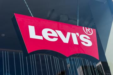 FRANKFURT, GERMANY MARCH, 2017: Levi's Store Logo behind a store window. Founded in 1853, Levi Strauss is an American clothing company known worldwide for its brand of denim jeans.- Stock Photo or Stock Video of rcfotostock | RC-Photo-Stock