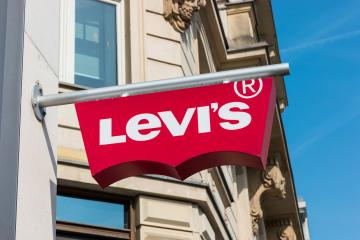 FRANKFURT, GERMANY MARCH, 2017: Levi's Store Logo. Founded in 1853, Levi Strauss is an American clothing company known worldwide for its brand of denim jeans.- Stock Photo or Stock Video of rcfotostock | RC-Photo-Stock