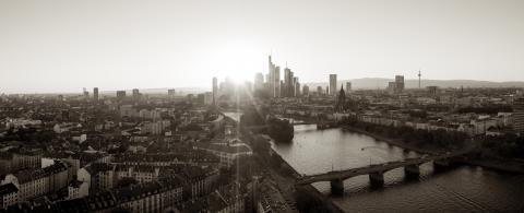 Frankfurt Panorama in monochrome Colors- Stock Photo or Stock Video of rcfotostock | RC-Photo-Stock