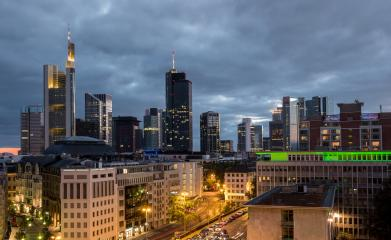 Frankfurt skyline and old town view at a cloudy day- Stock Photo or Stock Video of rcfotostock | RC-Photo-Stock