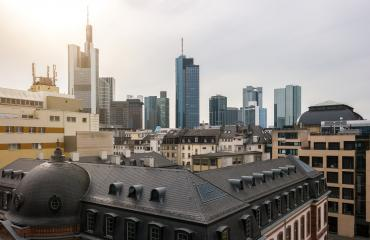 Frankfurt Skyline at a cloudy day- Stock Photo or Stock Video of rcfotostock   RC-Photo-Stock